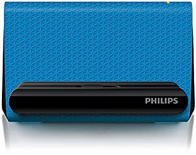 Philips SBA1710 Portable Smartphone Speaker Cradle with 3.5mm Auxiliary Cable - Blue by MEGA INT'L TRADING GROUP, INC.