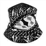 Braga para cuello con diseño de ojo de dragón, cómoda máscara de esquí, versátil y resistente al viento, para adultos, niños, excursionistas y esquiadores