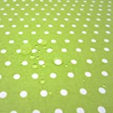 Werthers Stoffe Stoff Meterware wasserdicht Punkte grün