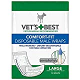 Comfort Fit Disposable Male Dog Diapers | Envolturas masculinas absorbentes con...