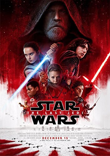 Star Wars Episode 8: The Last Jedi – U.S Wall Movie Poster Print - 30cm x 43cm / 12 inches x 17 inches VIII