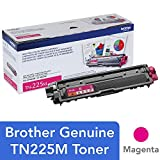 Brother Genuine High Yield Toner Cartridge, TN225M, Replacement Magenta Toner, Page Yield Up To 2,200 Pages, Amazon Dash Replenishment Cartridge, TN225