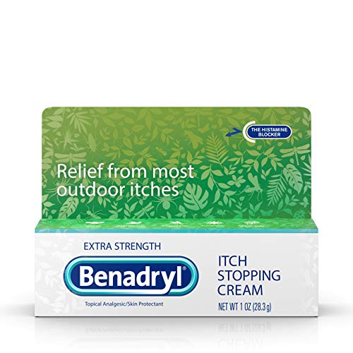 Benadryl Extra Strength Anti-Itch Relief Cream for Most Outdoor Itches, Topical Analgesic, 1 oz