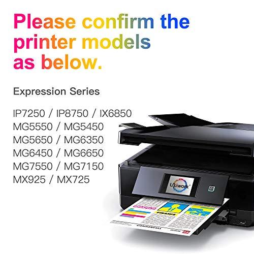 Uniwork 550XL 551XL Cartuchos de Tinta Reemplazo para Canon PGI-550 CLI-551 XL Compatible con Canon iX6850 iP7250 MG5450 iP8750 MG7550 MX925 MX725 MG5550 MG6350 MG6650 MG6450 (Paquete de 20)