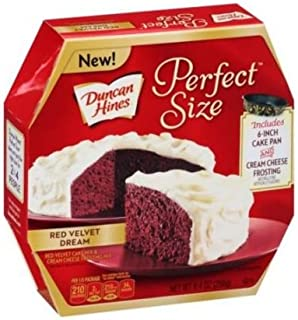 Duncan Hines Perfect Size Red Velvet Dream Cake Mix and Cream Cheese Frosting Mix, 9.4 Ounce -- 8 per case.