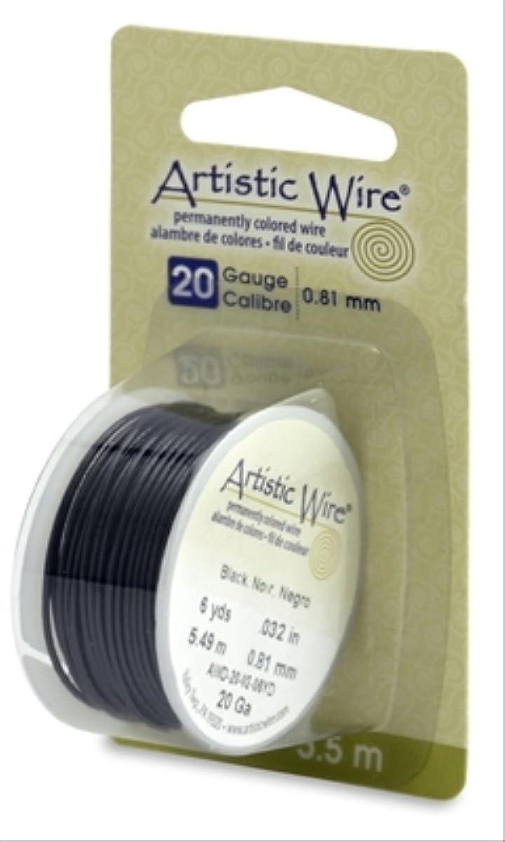 Beadalon Artistic, 20 Gauge, Black Color, 6 yd (5.5 m) Craft Wire,
