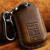 [Deyou]HONDA ホンダ車専用 本革 レザー製 質が軽い 高品質牛革 キーケース キーカバー フィットS660/ フィット/ JW5/ シビック/タイプR/ FK2/ FK8/ CR-Z/ ZF1/ ヴェゼル/ジェイド/アコード (ブラウン)