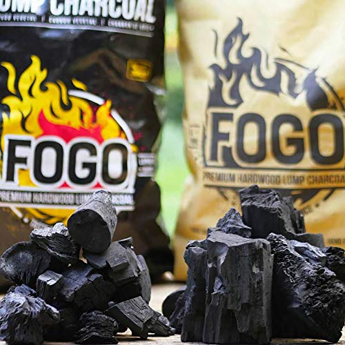 Fogo Premium Oak Restaurant All-Natural Hardwood Lump Charcoal for Grilling and Smoking, 35 Pounds
