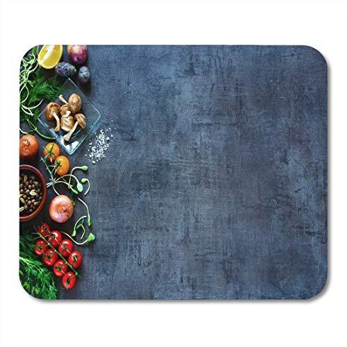 Mauspad rohes bio-gemüse frische zutaten für gesundes kochen mousepad für notebooks, Desktop-computer mausmatten, Büromaterial