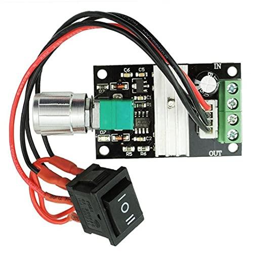 Controlador de velocidad del motor PWM 1203BB conductor del motor Interruptor de inversión de velocidad ajustable DC 6V 12V 24V 28V 3A 80W