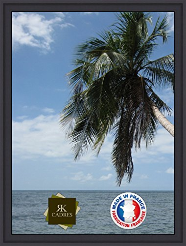RK Photo Frames Marcos para Tus Fotos en Lienzo Format Paysage 15 50x65 / 65 x 50 Marco de la Foto Negro, 4 cm de Ancho, Marco de Madera de Fotos