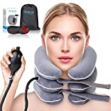 Cervical Neck Traction Device by FlexiBody, Inflatable Traction Device, FDA Approved Neck Traction for Home Use, Pain Relief and Spine Alignment, Adjustable Neck Stretcher, Plus Eye Mask Gift