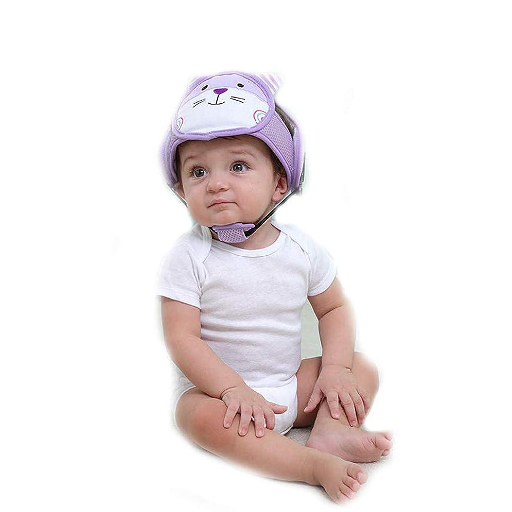 反逆はっきりしない皿1st?market 耐久性のある赤ちゃんのヘッドプロテクターヘルメット安全ヘッドガードクッション調節可能なストラップ付き、幼児幼児のための猫の帽子は歩くことを学ぶ