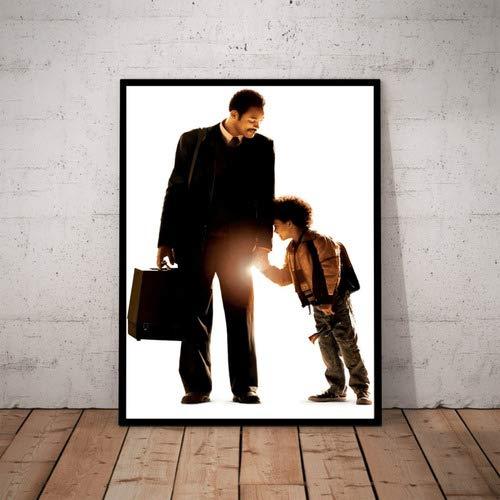 Quadro Filme A Procura Da Felicidade Poster Moldurado