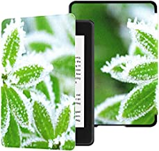 All-New Kindle Paperwhite Water-Safe Fabric Cover(10th Generation, 2018 Release),Grass Covered Hoarfrost Tablet Case