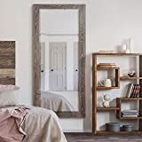 WEXFORD HOME Barnwood Wood Distressed Tonal Walnut Full Length Mirror, One Size