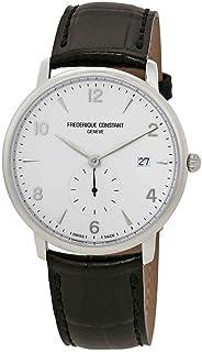 Frederique Constant Men's Slimline Stainless Steel Swiss-Quartz Watch with Leather Strap, Black, 14 (Model: FC-245SA5S6