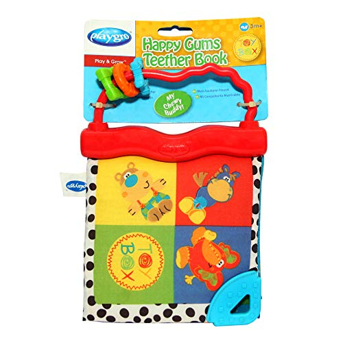 Playgro Happy Gums Teether Book, Multicolor