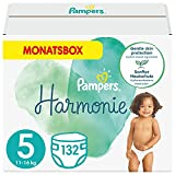 Pampers Baby Windeln Größe 5 (11+ kg) Harmonie, 132 Stück, MONATSBOX