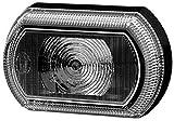 HELLA 2PF 013 323-211 Luces de posición - Shapeline Tech Slim - LED - 12/24V - pegado - Color de tulipa: gris - Cable: 2100mm - Conector: Conector hembra plano - Delante, izquierda/Delante, derecha