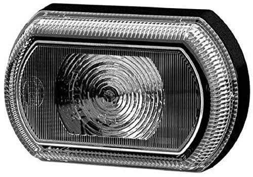 HELLA 2PF 013 323-211 Positionsleuchte - Shapeline Tech Slim - LED - 12V/24V - Lichtscheibenfarbe: grau - geklebt - Kabel: 2100mm - Stecker: Flachsteckhülse - Einbauort: vorne links/vorne rechts