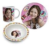 Soy Luna Set desayuno 3 piezas ceramica (Suncity SLA102226)