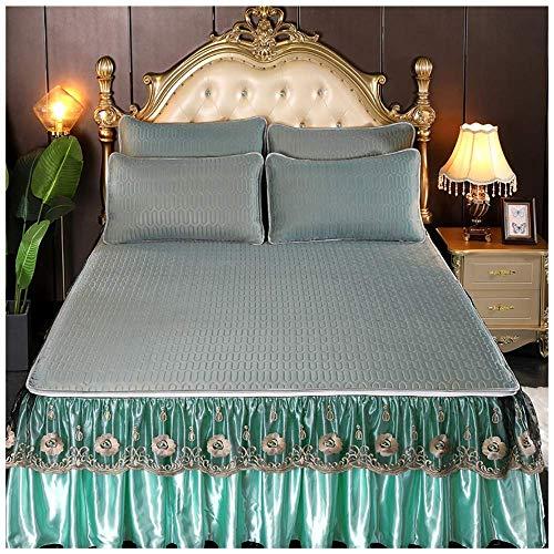 Bettrock 3 piece Ruffle Rock Bedscread Set Drop Rüschen Stil Bett Rock Coverlets...