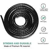 Gaine Spirale Flexible Universel 4mm,6mm AGPTEK, Kit de Câble Rangement 2 pack de Tube d'Enroulement de Câble en Spirale pour...