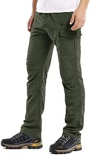 Men's Outdoor Cargo Hiking Pants Lightweight Waterproof Quick Dry Tactical Pants 6046