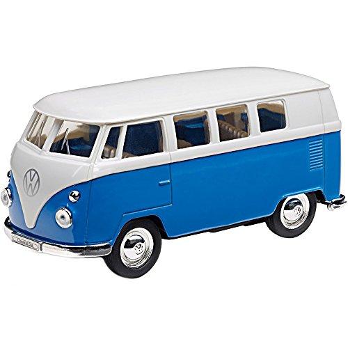 Volkswagen 211087511A Spielzeugauto T1 mit Rückziehfunktion, Blau/Weiß