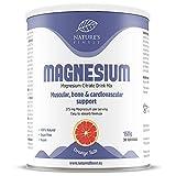 Nature's Finest Bebida de magnesio 150g   Citrato de magnesio en polvo de alta absorción totalmente natural   Apto para vegetarianos y veganos -   Huesos y dientes fuertes