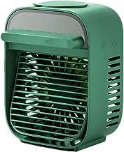 SHYPYG Portable Fan Mini Air Conditioner Air Cooling Fan Desk Humidify Bladeless USB Ventilator 3 Speed Silent Water Mist Fan