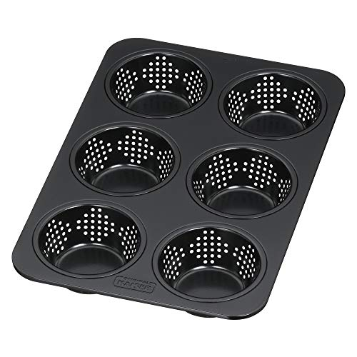 Kaiser Perforated Bread Roll Pan, Stainless Steel Black, 32 x 19.5 x 32 cm