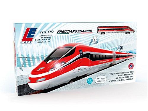 LE Toys Pista Treno Frecciarossa 1000 Batteria, Colore Rosso, LET13203
