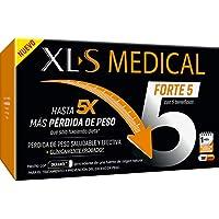 XLS Medical Forte 5 | Captagrasas | Pierde hasta 5 veces más peso que solo haciendo dieta | Perder Peso | Origen Natural 100% Vegano | 180 Cápsulas, 1 mes