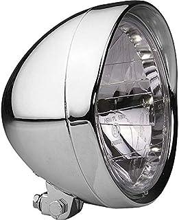 Hashiru Motorrad Scheinwerfer Hauptscheinwerfer H4 Ø190mm Chrom unten, Unisex, Chopper/Cruiser, Ganzjährig, Metall