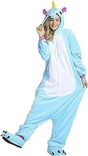 Fantasia Pijama Cosplay de Unicórnio Azul com Capuz Original