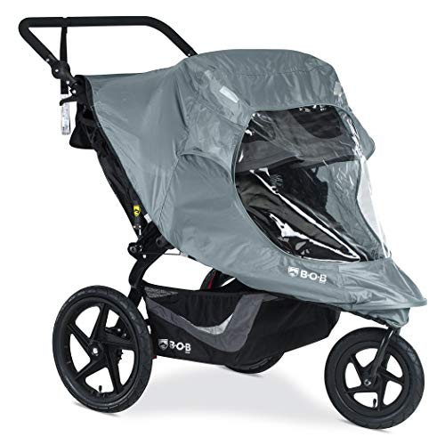 bob baby strollers BOB Duallie Swivel Wheel Stroller Weather Shield | Water and Wind Resistant + Ventilated + Easy Install