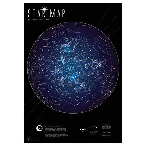 Mapa estelar fluorescente