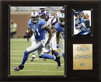 NFL Calvin Johnson Detroit Lions Player Plaque