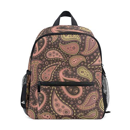 Ancient Flower Toddler Backpack Bookbag Mini Shoulder Bag for 1-6 Years Travel Boys Girls Kids with Chest Strap Clip Whistle