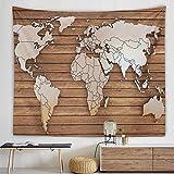 NC153 Tapiz de Mapa del Mundo, cabecero de Pared, Colcha de Arte, Tapiz de Dormitorio para Sala de Estar, Dormitorio, decoración del hogar, 150 × 100 cm