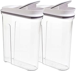 Oxo Softwoks Cereal Keeper, (2 pack) Pop Cereal Dispenser Set 4.5qt/4.2L Each