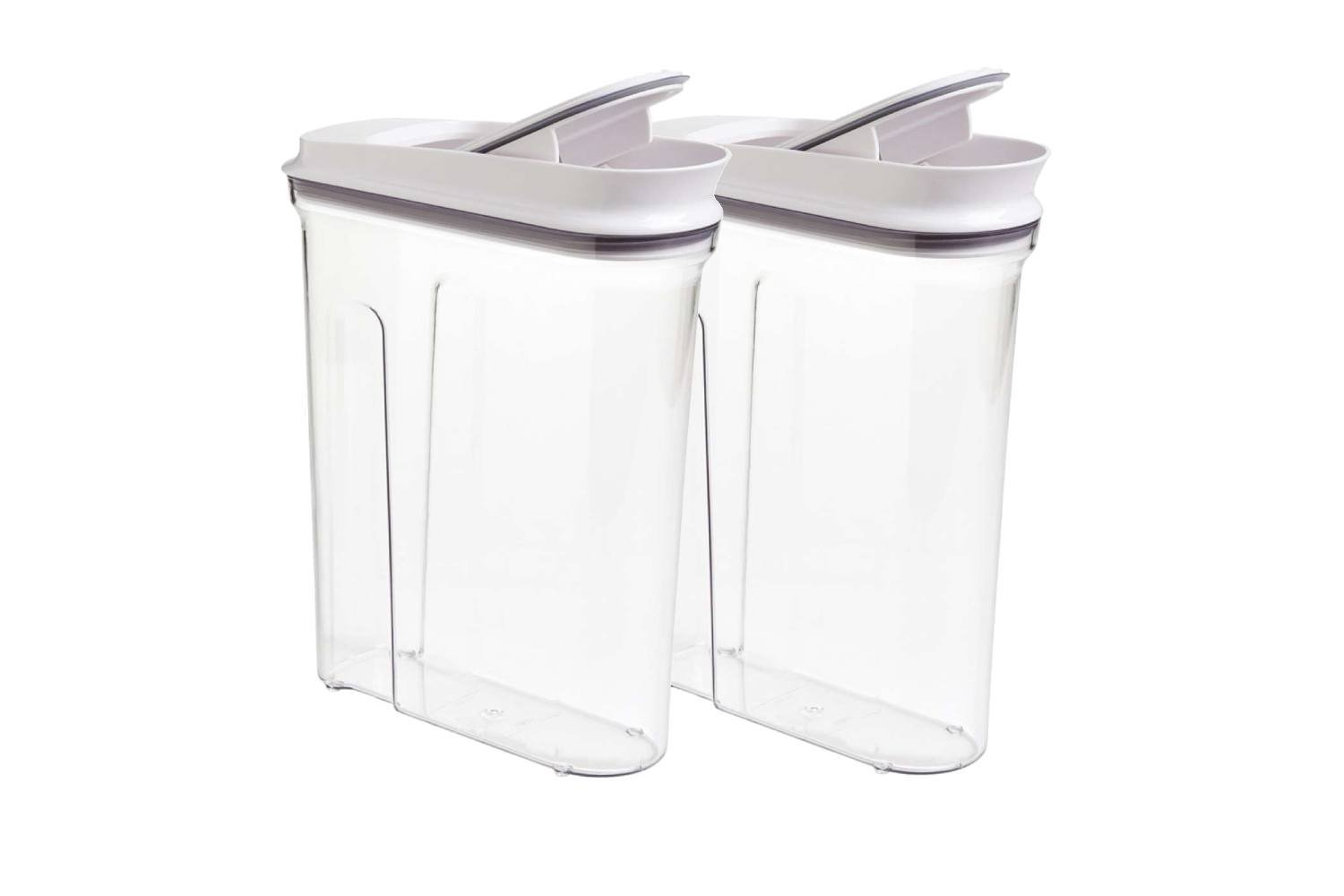 Oxo Softwoks Cereal Keeper, (2 pack) Pop Cereal Dispenser Set 4.5qt/4.2L Each