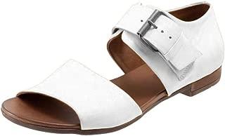 Casual Summer Sandals for Women, Huazi2 Ladies Girls Ankle Strap Belt Buckle Sandals Flat Bottom Roman Shoe