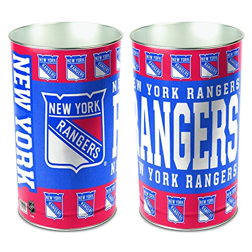 NHL New York Rangers 15 Waste Basket, Team Color, One Size