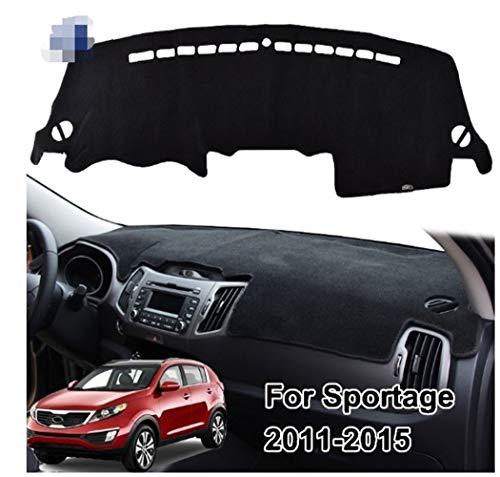 NO LOGO 1pc Armaturenbrett-Abdeckung for Kia Sportage R 3 2011-2015 Schlag-Matte Dashmat Armaturenbrett-Abdeckung Pad Sonnenschutz Teppich Car Styling