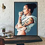 sanzangtang Popmusik Sänger Star Leinwand Malerei Poster und Druck-Rahmenlose Malerei50X75cm