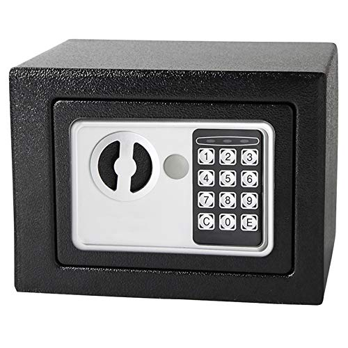Dawoo Caja Fuerte electrónica 17cmX23 cmX17cm para Oficina o Uso doméstico Caja de Seguridad para Montaje en Pared o Suelo.