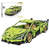 YIGE Juego de construcción de coche deportivo, 587 piezas, con tracción trasera, compatible con la técnica Lego